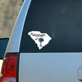South Carolina State Vinyl RUNNERDecal