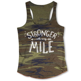Running Camouflage Racerback Tank Top - Stronger With Every Mile