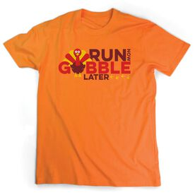 Men's Lifestyle Runners Tee - Run Now Gobble Later