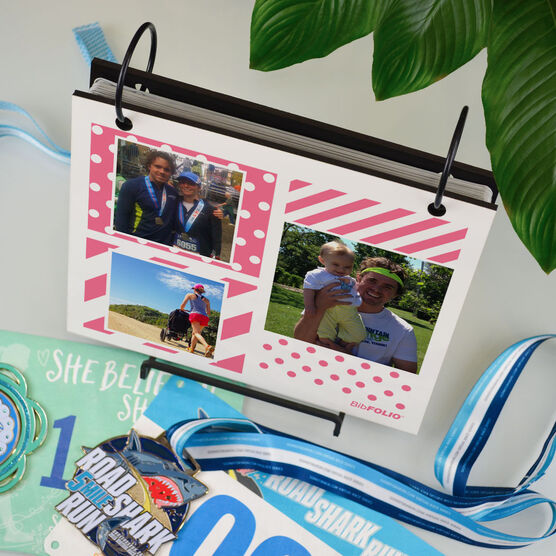 BibFOLIO® Race Bib Album - Mixed Patterns Photo