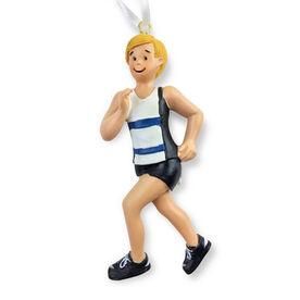 Runner Resin Figure Ornament - Male Blonde