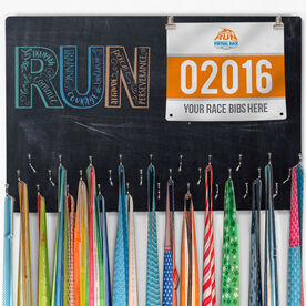 Hooked On Medals Bib & Medal Display Run With Inspiration