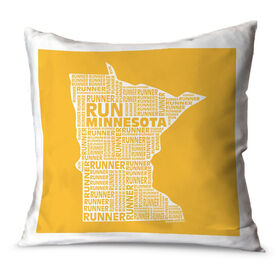 Running Throw Pillow Minnesota State Runner