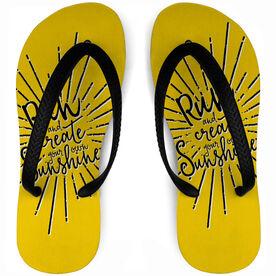 Running Flip Flops Run and Create Sunshine