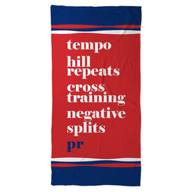 Running Beach Towel - PR Mantra