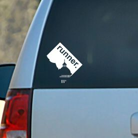 District of Columbia State Vinyl RUNNERDecal