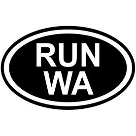 Vinyl Decal Run Washington