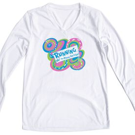 Women's Running Long Sleeve Tech Tee Running Oh The Places You'll Go