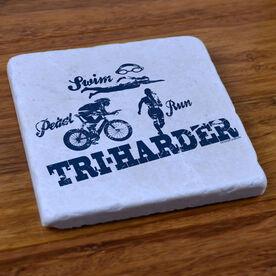 TRI Harder - Stone Coaster