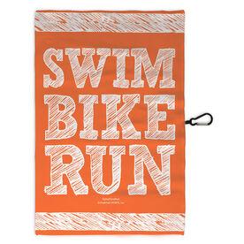 Triathlon Workout/Golf Towel Swim Bike Run Stacked
