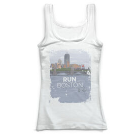 Running Vintage Fitted Tank Top - Boston Sketch