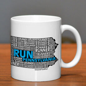 Running Ceramic Mug Pennsylvania State Runner