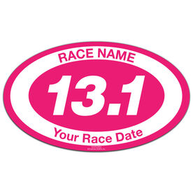 Custom Race 13.1 Oval Car Magnet