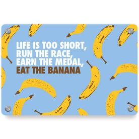 Running Metal Wall Art Panel - Eat The Banana
