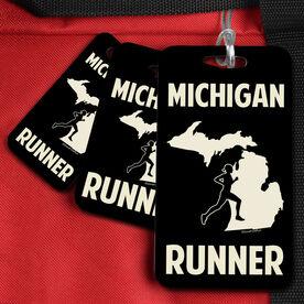 Bag/Luggage Tag Michigan State Runner Female