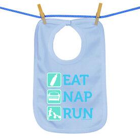 Baby Bib Eat Nap Run