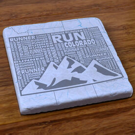 Colorado State Runner Stone Coaster