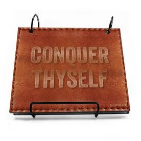 BibFOLIO® Race Bib Album - Conquer Thyself Quote Executive