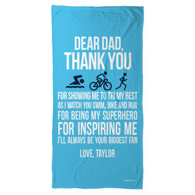 Triathlon Beach Towel Dear Dad