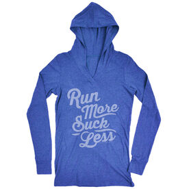 Women's Running Lightweight Performance Hoodie Run Club Run More Suck Less (Script)