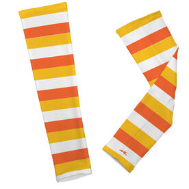 Printed Arm Sleeves Candy Corn