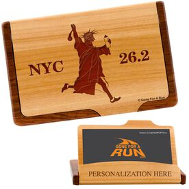 NYC 26.2 Maple Business Card/Credit Card Holder