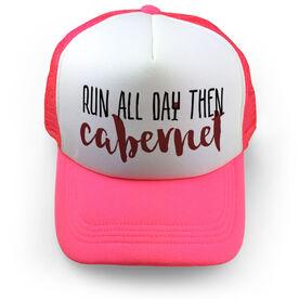 Running Trucker Hat - Run All Day Then Cabernet