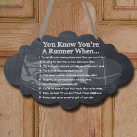 Vintage You Know You're A Runner When Decorative Cloud Sign