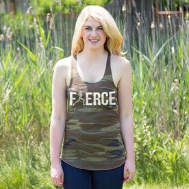 Running Camouflage Racerback Tank Top - Fierce