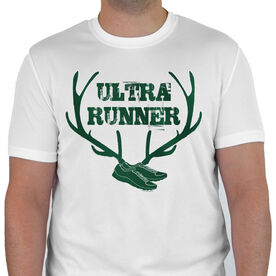 Men's Running Customized Short Sleeve Tech Tee Ultra Runner (Antlers)