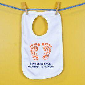 First Steps Today. Marathon Tomorrow Baby Bib