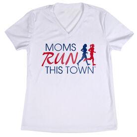 Women's Running Short Sleeve Tech Tee - Moms Run This Town Logo RWB