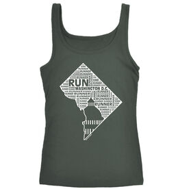 Women's Athletic Tank Top District of Columbia State Runner
