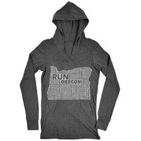 Women's Running Lightweight Performance Hoodie Oregon State Runner