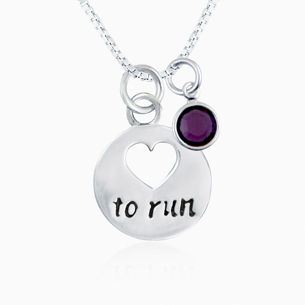 Love Silvers: Sterling Silver Love To Run Necklace
