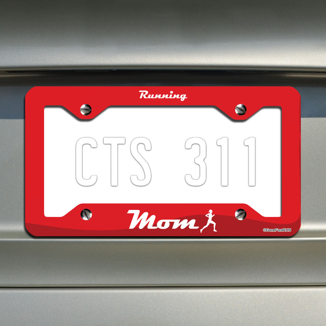 Running Mom License Plate Holder
