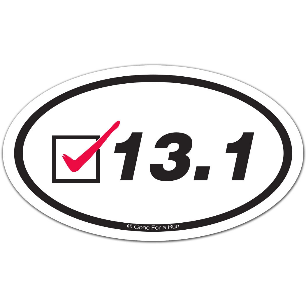 Check Oval Car Magnet Half Marathon Car Magnets Half - Custom car magnets oval   promote your brand