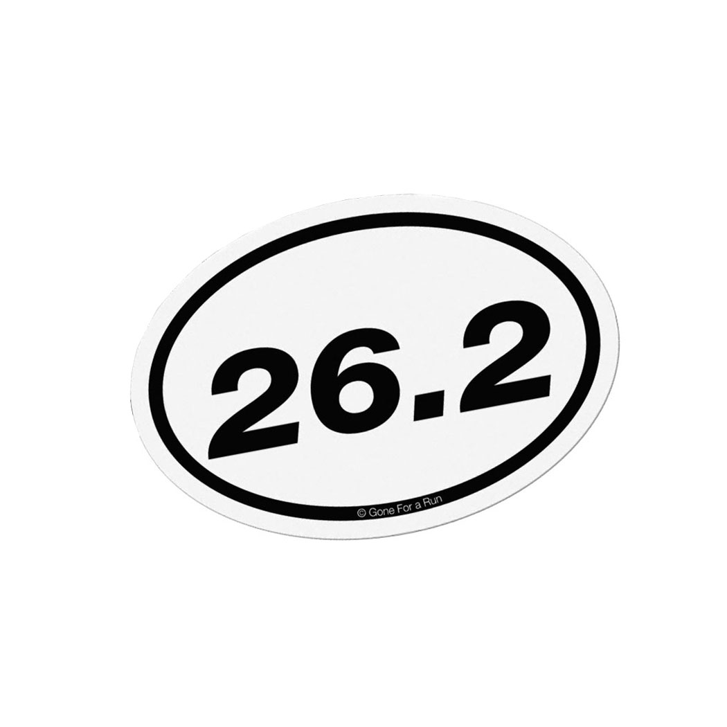 Runners Car Accessories Gone For A Run - Custom car magnets oval   promote your brand