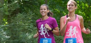 Image of women running virtual race