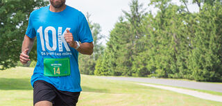 Image of man running a race challenge
