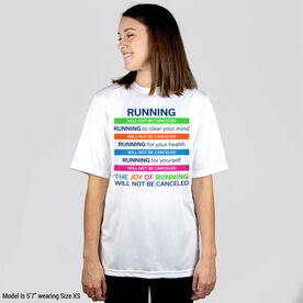 Running Short Sleeve Performance Tee - The Joy of Running Will Not Be Canceled