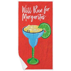 Running Premium Beach Towel - Will Run For Margaritas