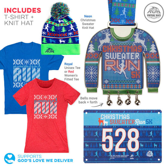 Virtual Race - Christmas Sweater Run 5K (2019) - DELUXE