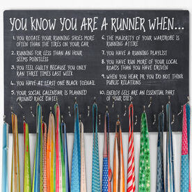Running Large Hooked on Medals Hanger - You Know You're a Runner
