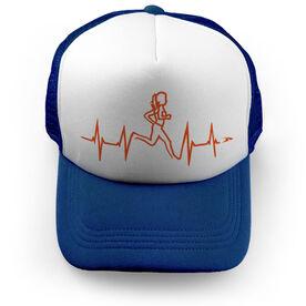 Running Trucker Hat Female Heart Beat Runner