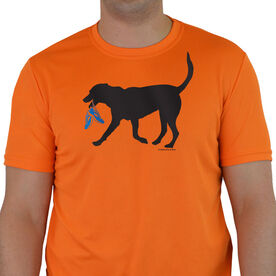 Men's Running Short Sleeve Tech Tee Rex the Running Dog