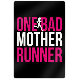 "Running 18"" X 12"" Aluminum Room Sign - One Bad Mother Runner"