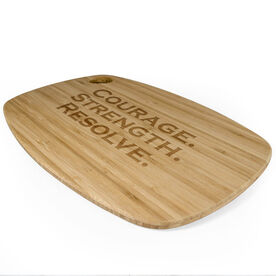 Rectangle Laser Engraved Bamboo Cutting Board Custom Text