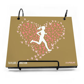 BibFOLIO® Race Bib Album - Run With Your Heart