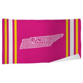 Running Beach Towel Tennessee State Runner
